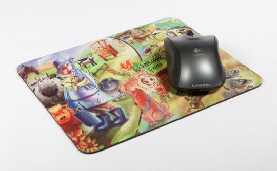 Печать на ковриках для мышки
